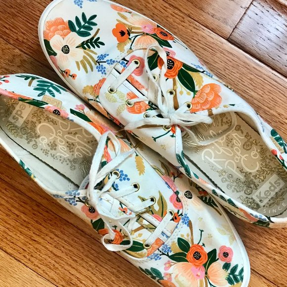 Keds X Rifle Paper Co Floral Sneakers 11